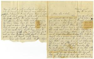 Primary view of [Letter from Dinkie McGee to Sissie and Bettie, May 30, 1878]