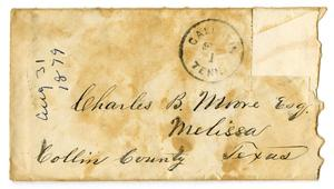 Primary view of [Envelope for Charles B. Moore, 1879]