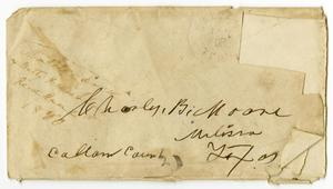 Primary view of [Envelope from Matilda Brantley Dodd and Betty Franklin, January 2, 1880]