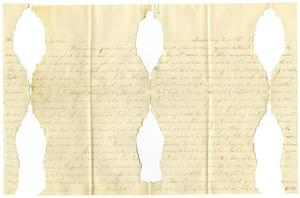 Primary view of object titled '[Letter from Moore family members to Mary Ann and Charles B. Moore, December 19, 1880]'.