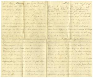 Primary view of [Letter from H. S. Moore to Charles, August 8, 1881]