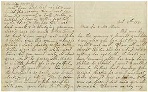 Primary view of [Letter from Dinnkie McGee to Sis and Mr. Moore, October 9, 1881]