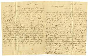 Primary view of [Letter from Dinkie and Alice McGee to Mollie and Charles Moore, December 11, 1881]