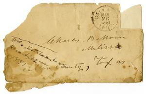 Primary view of [Envelope from Matilda and William Dodd to C. B. Moore, March 26, 1881]