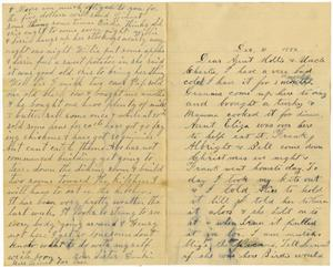 Primary view of [Letter from Willie, Alice, and Dinkie McGee to Mary Ann and Charles B. Moore, December 31, 1882]