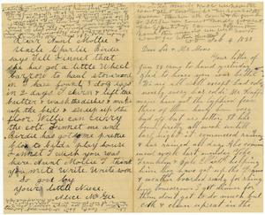 Primary view of [Letter from Dinkie and Alice McGee and William Dodd to Mollie and Charles Moore, February 4, 1883]