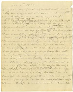 Primary view of [Rough draft of will by Charles B. Moore, December 6, 1883]