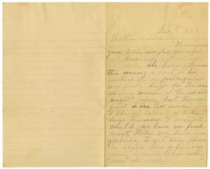 Primary view of [Letter from Bettie Franklin to Matilda Dodd and Mary Ann Moore, December 9, 1883]