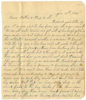 Primary view of [Letter from Dinkie McGee to C. B. Moore, January 11, 1884]