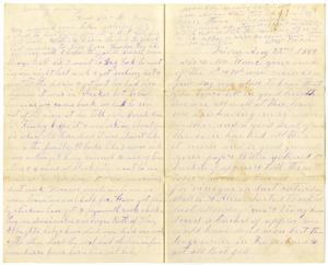 Primary view of object titled '[Letter from Matilda and William Dodd to Mary and Charles B. Moore,  August 22, 1884]'.