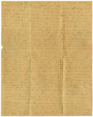 Primary view of [Letter from Laura Jernigan to Charles Moore, September 9, 1884]