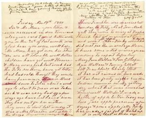 Primary view of [Letter from William and Matilda Dodd to Mr. Moore and Sis, November, 14, 1884]