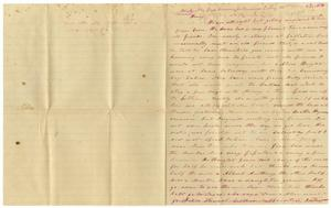 Primary view of [Letter from Charles B. Moore to Henry S. Moore, August 31, 1885]