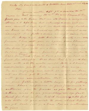 Primary view of [Letter from Charles B. Moore to Sam P. Henderson, September 16, 1885]