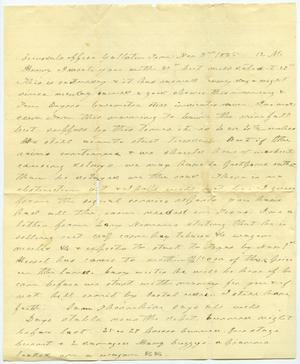 Primary view of [Letter from Charles B. Moore to Henry Moore, November 3,1885]