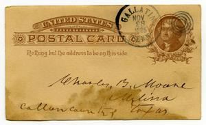 Primary view of object titled '[Postcard from William Dodd to Charles B. Moore]'.