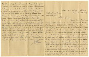 Primary view of object titled '[Letter from Charleston Payne to Charles B. Moore, November 10, 1887]'.