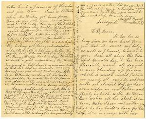 Primary view of [Letter from Mary A. Barr to Charles B. Moore, November 13, 1887]