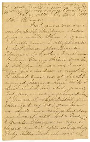 Primary view of [Letter from Julia A. Barr to the Moore family, December 3, 1888]