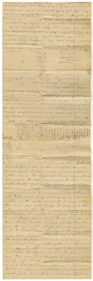 Primary view of [Letter from Laura Jernigan to Charles Moore, February 2, 1888]
