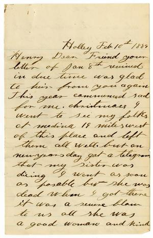 Primary view of [Letter from John McCormick to H. S. Moore, February 10, 1889]