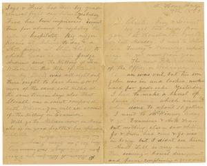 Primary view of [Letter from H. S. Moore to Charles, Mary, and Linnet Moore , August 9, 1889]