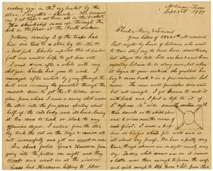 Primary view of [Letter from Henry S. Moore to the Moore family, September 3, 1889]
