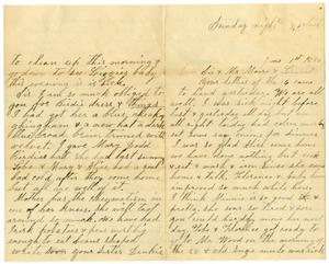 Primary view of [Letter from Dinkie McGee to Mary and Charles B. Moore, June 1, 1890]