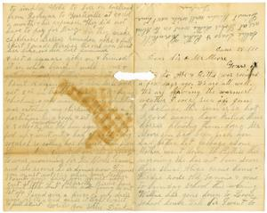 Primary view of object titled '[Letter from Dinkie McGee to Mary and Charles B. Moore]'.