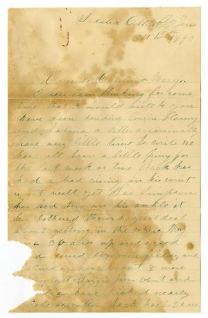 Primary view of object titled '[Letter from Laura Jernigan to Charles and Mary Moore, October 12, 1890]'.