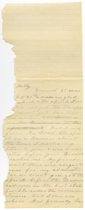 Primary view of object titled '[Letter from Charles B. Moore to Mr. Kelly]'.