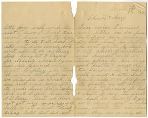Primary view of [Letter from Mollie Taylor to Mary and Charles Moore, March 13, 1893]