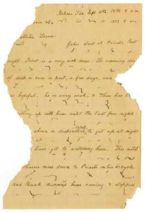 Primary view of [Letter from H. S. Moore, September 10, 1893]
