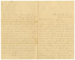Primary view of object titled '[Letter from Lila Franklin to Mr. and Mrs. Moore and Linnet, September 24, 1893]'.