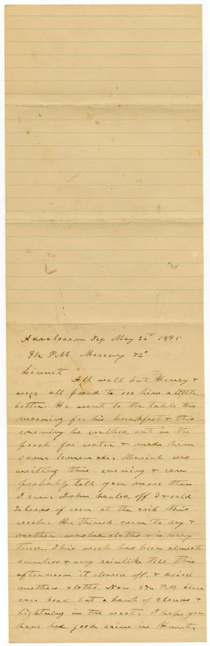 Primary view of [Letter from C. B. Moore to Linnet, May 26, 1895]