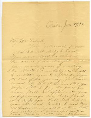 Primary view of object titled '[Letter from E. Hewden to Charles B. Moore, January 7, 1897]'.