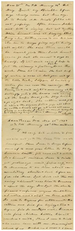 Primary view of object titled '[Letter from Charles B. Moore to Mary Moore, November 20, 1897]'.
