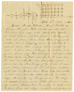 Primary view of object titled '[Letter from Will McGee to Charles, Mary and Linnet Moore, March 9, 1898]'.