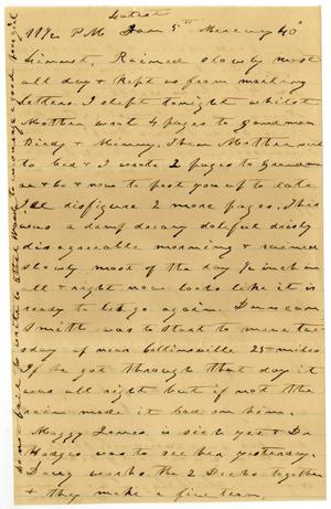 Primary view of object titled '[Letter from Charles B. Moore to Linnet Moore, January 5, 1898]'.