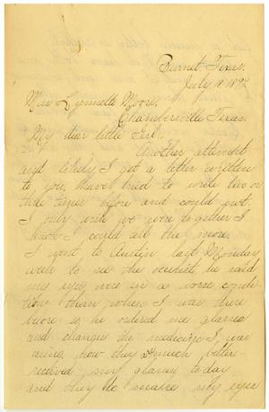 Primary view of object titled '[Letter from Lula Dalton to Linnet Moore, July 18,1899]'.