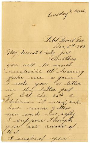 Primary view of [Letter from Ben Ledbetter to Linnet Moore, December 5, 1899]