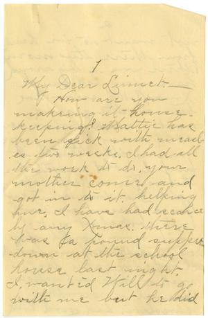 Primary view of object titled '[Letter from Birdie McGee to Linnet Moore, c.1899]'.