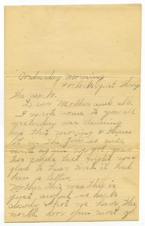 Primary view of object titled '[Letter from Linnet Moore to Mary Ann and Charles B. Moore, January 1900]'.