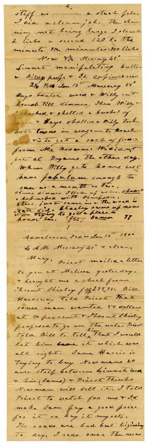 Primary view of object titled '[Letter from Charles B. Moore to Mary Ann Moore, January 13, 1900]'.