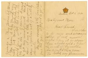 Primary view of [Letter from Carter J. Dalton to Linnet Moore, October 11, 1900]