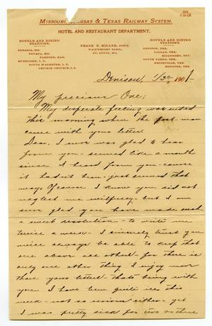 Primary view of [Letter from Claude White to Linnet Moore, January 3, 1901]