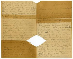 Primary view of [Letter from Elizabeth Franklin to the Moore family, January 10, 1901]