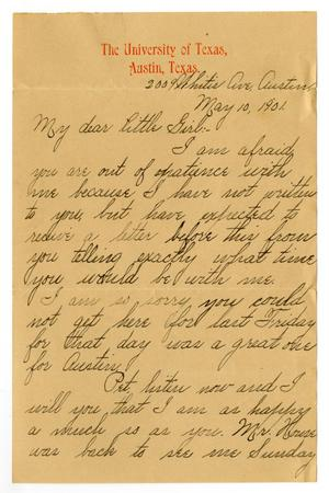 Primary view of [Letter from Lula Dalton to Linnet Moore White, May 10, 1901]