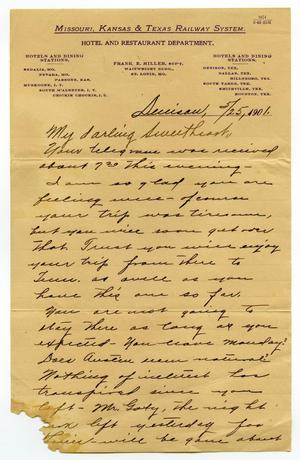 Primary view of [Letter from Claude White to Linnet Moore, May 25, 1901]