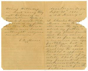Primary view of object titled '[Last will and testament of Charles B. Moore, September 30, 1901]'.
